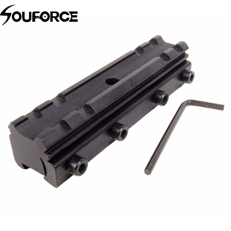 """HOT Picatinny//W 3//8/"""" 11mm Dovetail to 7//8/"""" 20mm Weaver Rail Adapter Scope Mount"""