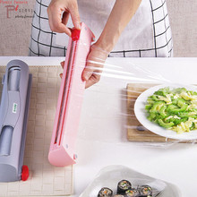 Magic ABS Good Useful Fruit Food Fresh Keeping Plastic Cling Wrap Dispenser Preservative Film Cutter Kitchen Tool Accessories