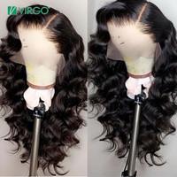 Virgo Hair Body Wave Wig 360 Lace Frontal Wig Pre Plucked With Baby Hair Remy Brazilian Wig Human Hair 130% Density 10 24 inch