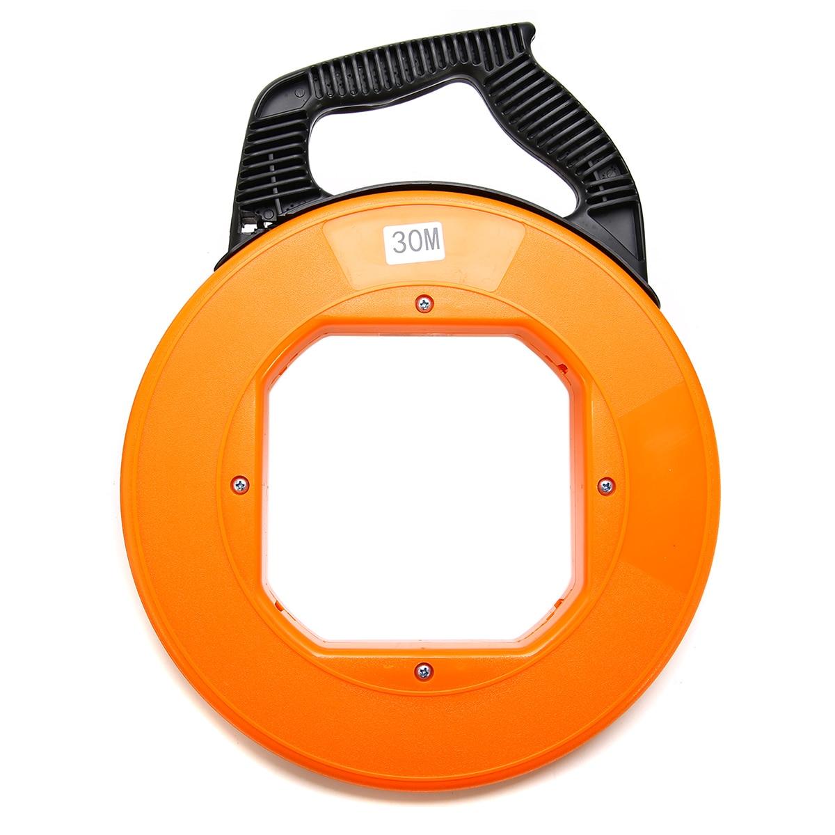 Durable Fiberglass Fish Tape Reel Puller Conduit Duct Rodder Pulling ...