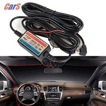 Coche DVR Alambre Alambre 12 V-24 V Car Camera Recorder Cam Dash Kit de Instalación de Cableado de Alimentación de Mini USB Cable de baja tensión de protección