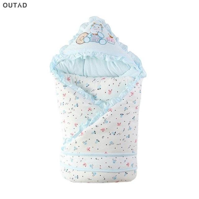 OUTAD 90*90 см спальный мешок для малышей пеленать Обёрточная Бумага Зимний конверт хлопок для новорожденных натуральный хлопок милое детское одеяло лидер продаж