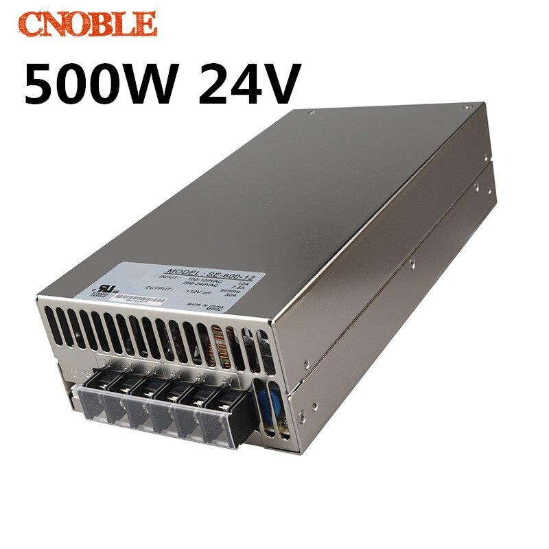 500 W 24 V 20A 220 V entrée unique sortie alimentation à découpage pour LED bande de lumière AC à DC