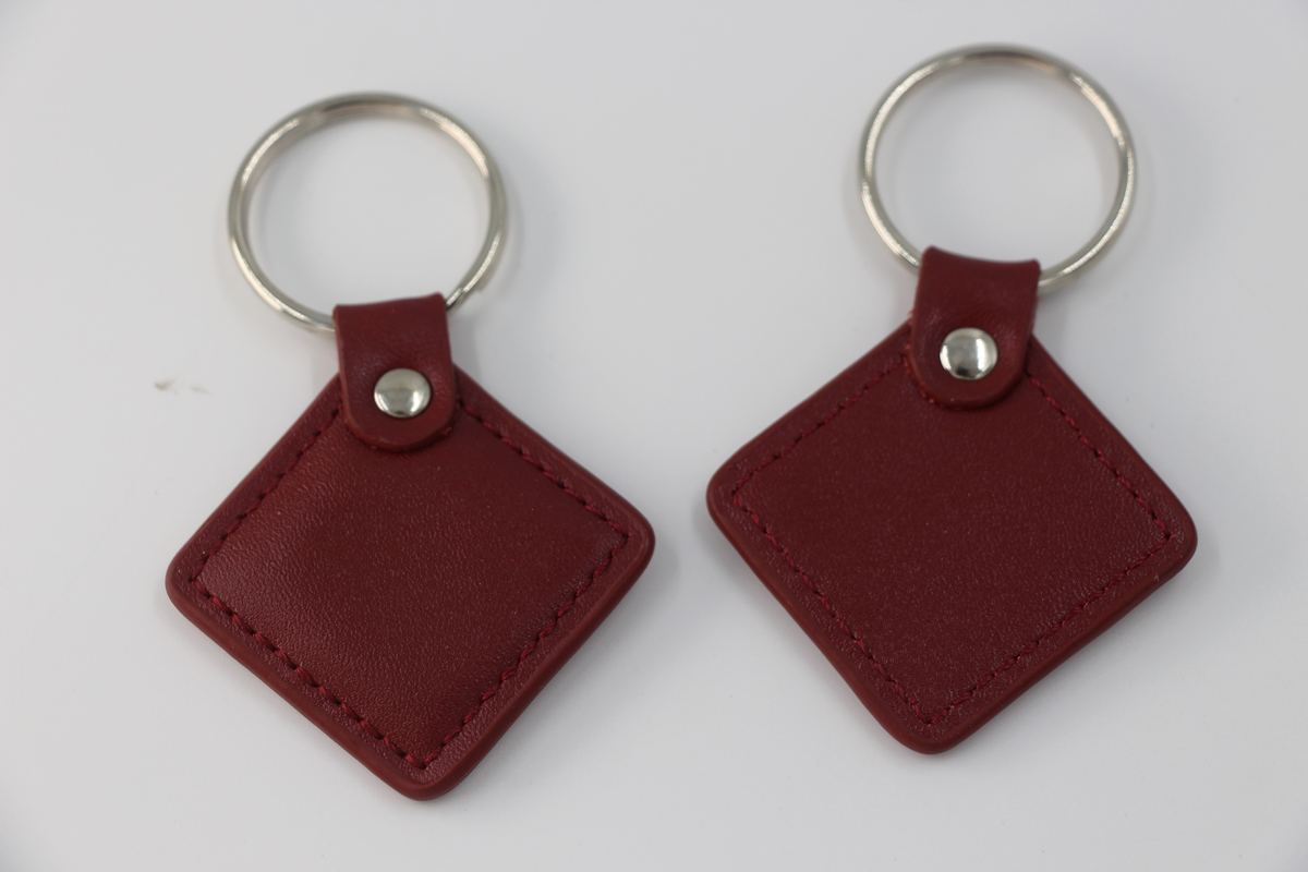 125khz Proximity EM4100 TK4100 Leather RFID Tag Key Ring ID Keychains For Door Access Control