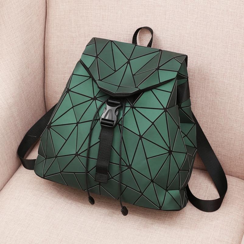 Nevenka Diamond Lattice Backpack Women Backpack Leather Creative Geometric Backpacks Drawstring Backpacks for Teenager Girl 201803