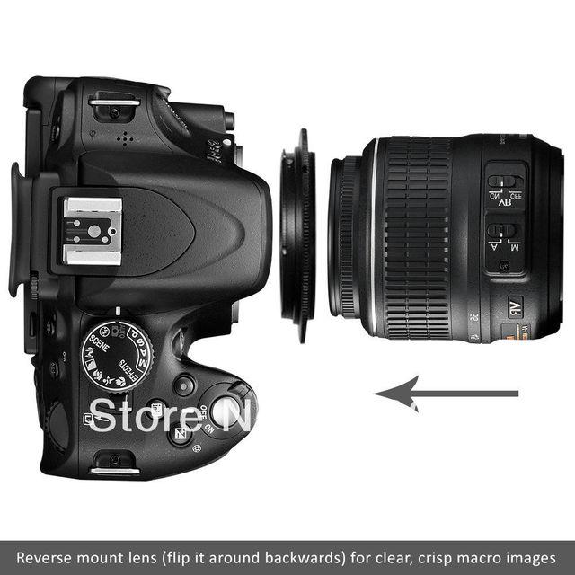 Lente de rosca de filtro de 58MM de garantía de 100%/anillo de reversa Macro adaptador de montaje de cámara para Nikon SLR