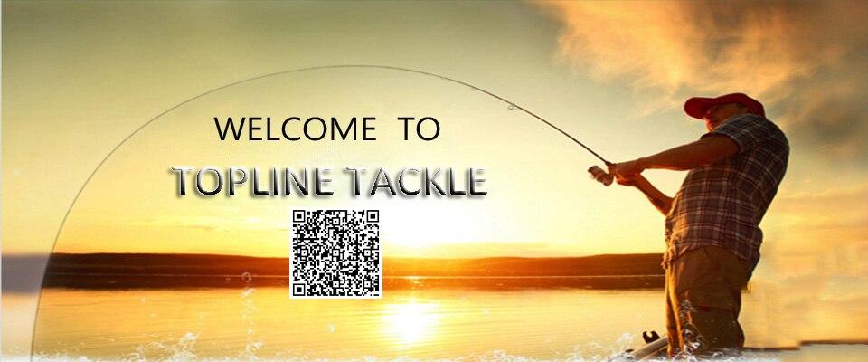 Topline carretel de pesca com 4 rolamentos