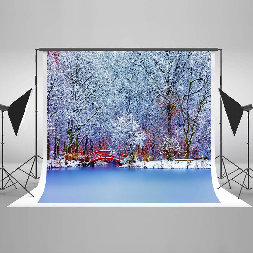Kate 10X10FT (300X300CM) Snow Photo Background Photography Backdrop Forzen Tree Newborn Photography Backdrop kate digital photography backdrop