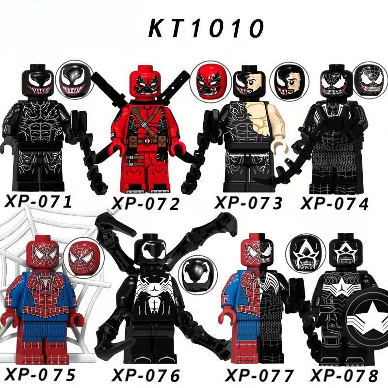 Single Sale LegoINGlys Enlighten Deadpool Venom Building Blocks Little Figure Mini Spider Man Birthday Toys Children Gifts