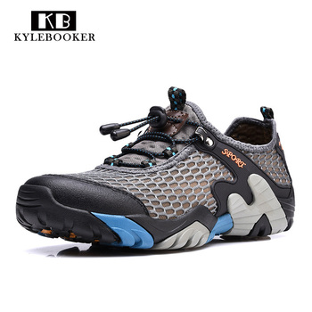 Men Breathable  Fly Fishing Shoes Water Sports Upstream Shoes Summer Hiking Outdoor Sneakers Walking Trekking Aqua Shoes