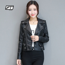 Fitaylor Autumn Leather font b Jacket b font font b Women b font Casual Long Sleeve