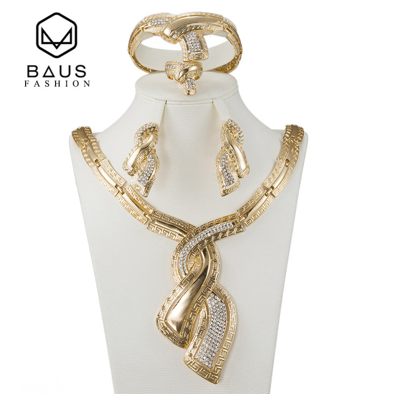 BAUS 2017 Top Quality Fashion African Jewelry Sets African Costume Big Jewelry Set Women's Necklace Wedding Jewelry Accessories