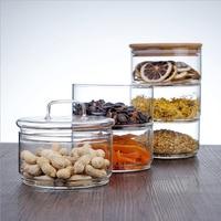 Three Floors Glass Storage Jar Bottle with Cover Minimalist Storage Bottle Nut Seasoning Fruit Container Organizer