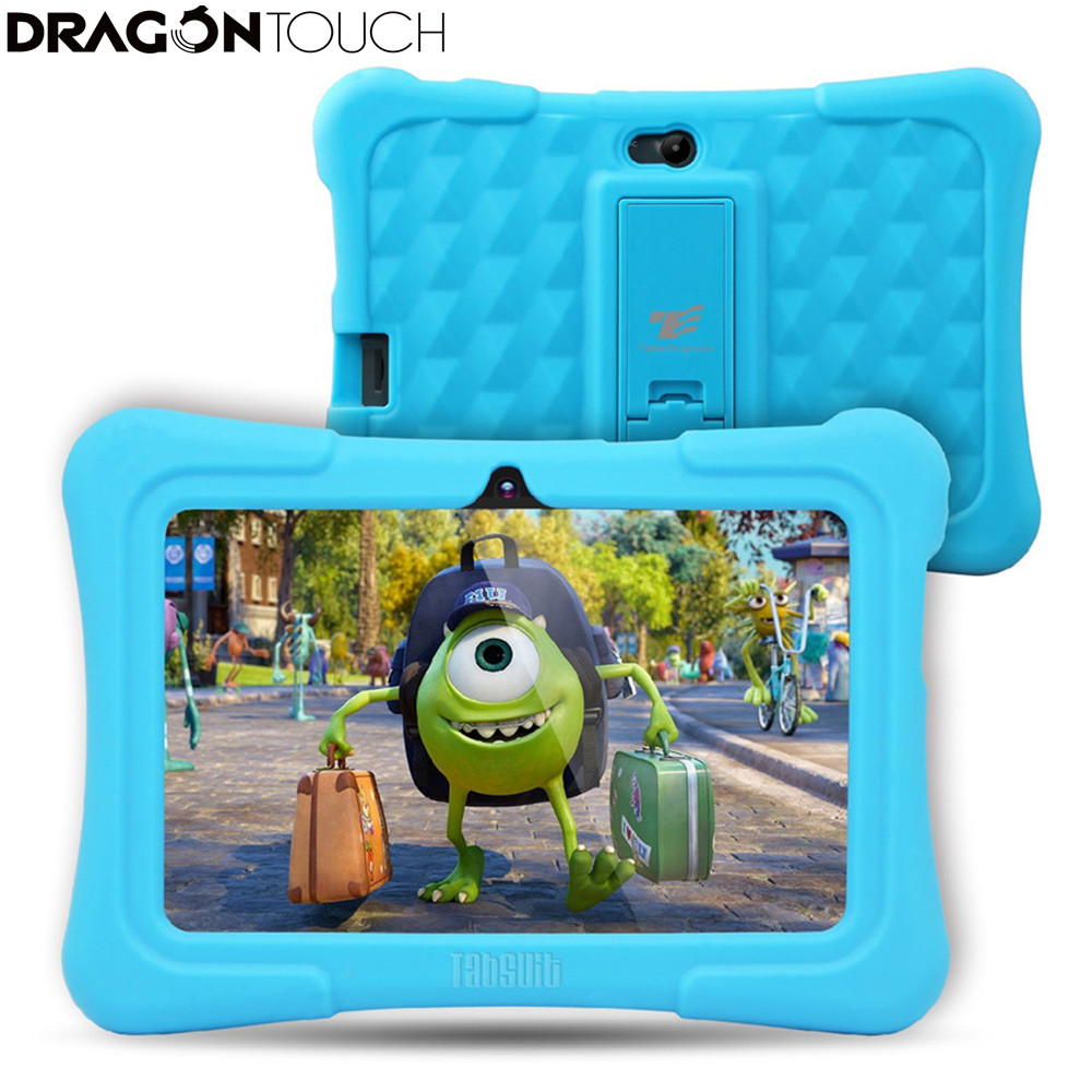 DragonTouch Newest 7 inch Kids Tablet PC Quad Core 8G ROM Android 5.1 With Children Apps Dual Camera PAD for Children partaker embedded linux thin client x3 with dual core 1 5ghz pc station rdp 7 1