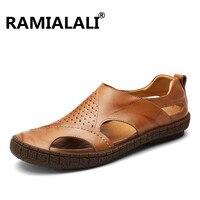 Ramialali Men S Outdoor Beach Sandals Summer Breathable Comfortable Designer Shoes Sandalias Soft Cowhide Walking Slipper
