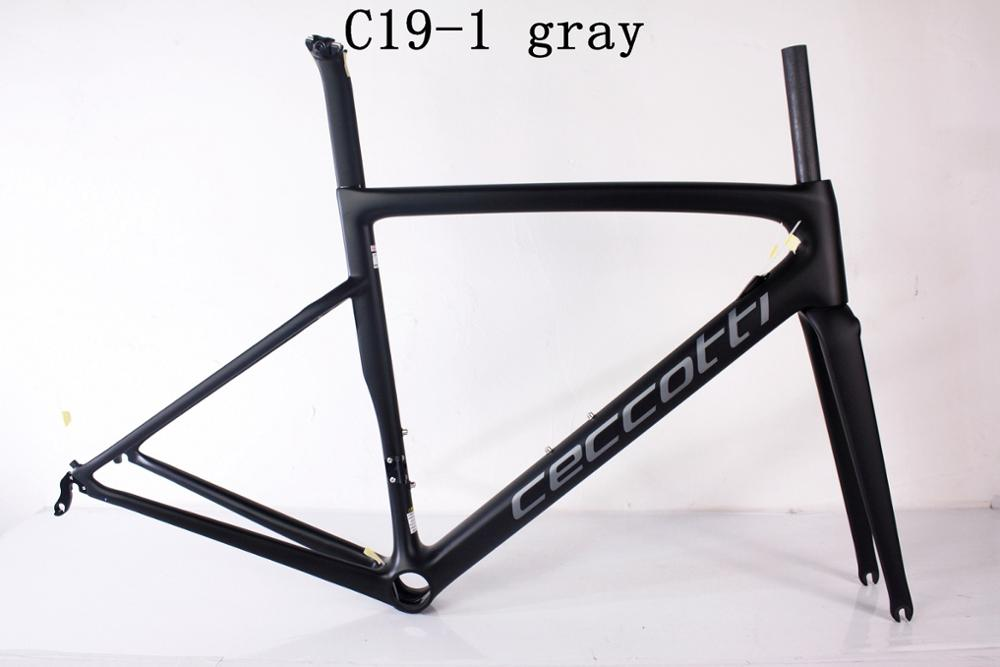Dc019 Ceccotti  Carbon Road Bike Frame Toray  PF30/BB30/BSA Frame+fork+seatpost+clamp+headset 2019
