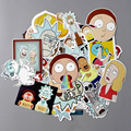 35Pcs/lot American Drama Rick and Morty Funny Sticker Decal For Car Laptop Bicycle Motorcycle Notebook Waterproof Stickers