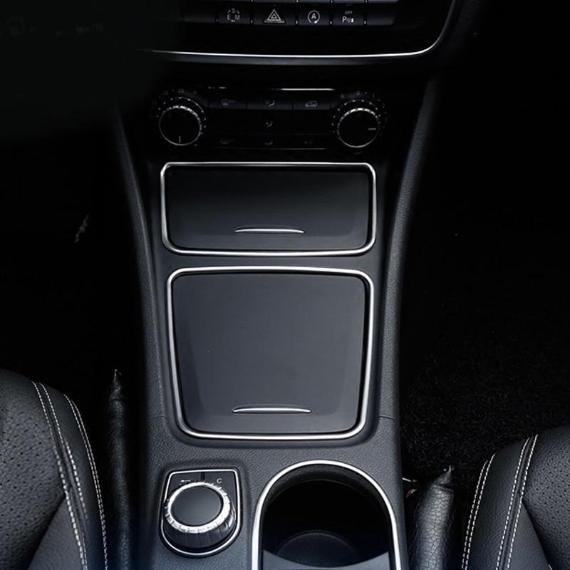 Console Central do carro Cinzeiro Titular Caixa De Armazenamento de Acabamento Quadro Para Mercedes Benz A CLA CLA200 GLA Classe 220 260 W176 C117 W117 X156