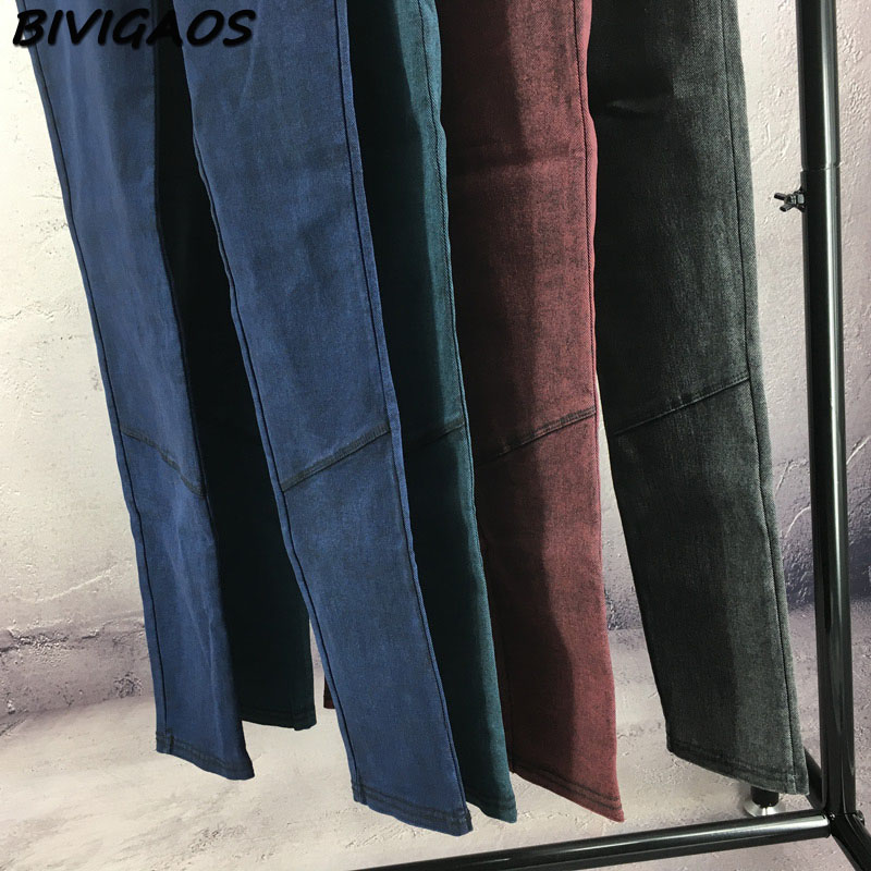 BIVIGAOS Fashion Women Casual Slim Stretch Denim Jeans Leggings Jeggings Pencil Pants Thin Skinny Leggings Jeans Womens Clothing 20