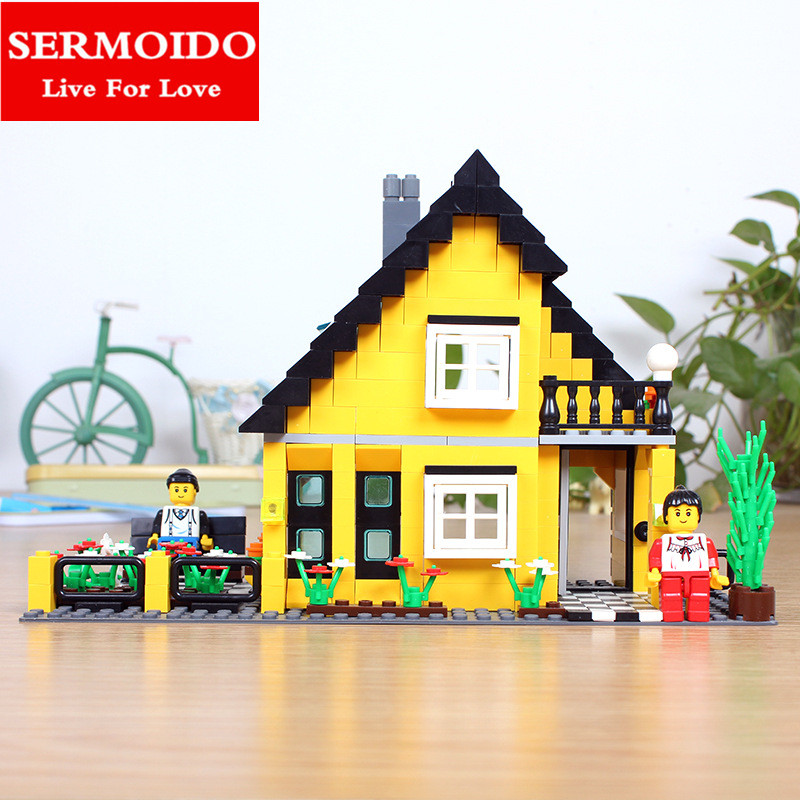 SERMOIDO 458pcs Lepine Friends STEPHANIE'S HOUSE Building Blocks Girls Figures Model Bricks Toys Compatible With Brand B9 lepine model