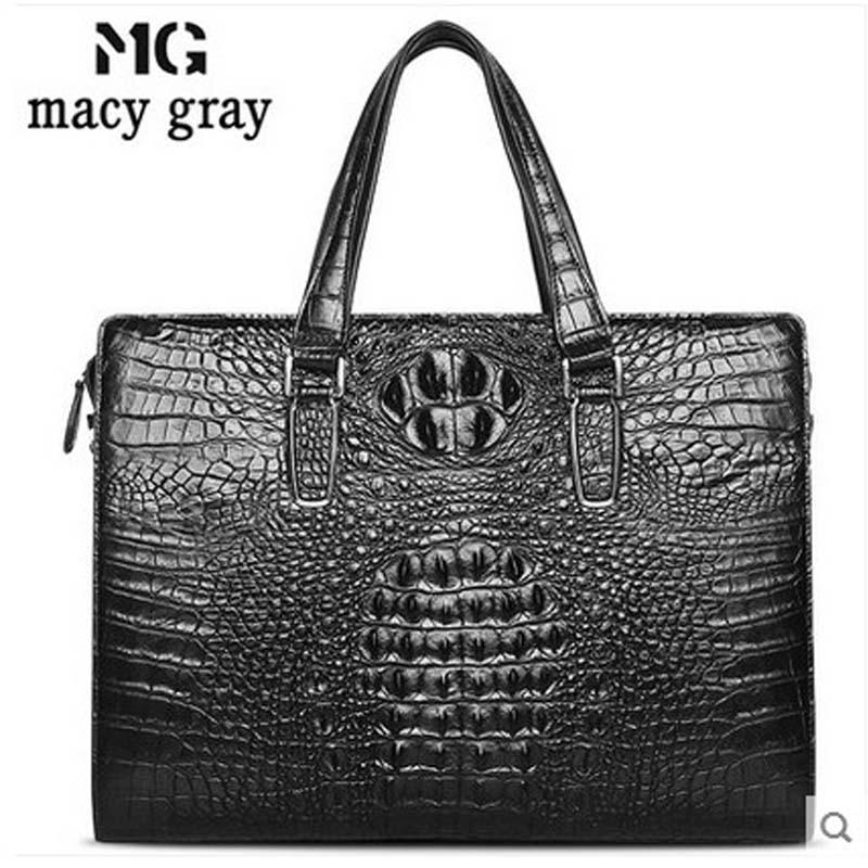meixigelei crocodile men handbag  man bag business men one-shoulder bag large volume portable briefcase men bag quicktime toolkit volume one