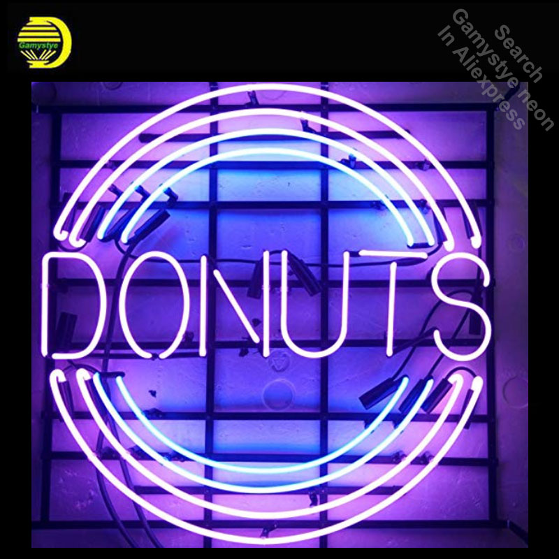 Enseigne au néon Beignets Home Decor Light neon Light Inscrivez-beer Bar Pub Inscrivez Personnalisé logo Design Artisanal Hôtel enseignes Au Néon dropshipping