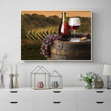 Laeacco Wine Cellar Grape Vineyard Prints and Posters Nordic Canvas Painting Wall Artwork Pictures Home Living Room Decoration