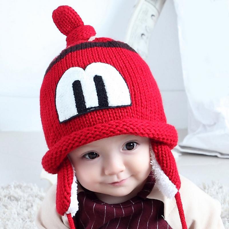 Clearance New Spring Autumn Winter Cute Infants Baby Hat For Girl boy Kids Wool Velvet Earmuffs Cap