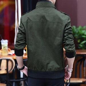 Image 4 - ผ้าขนสัตว์2020แจ็คเก็ตผู้ชายล้างCasual Slim Coatฤดูใบไม้ผลิฤดูใบไม้ร่วงฤดูหนาวหนาบางแฟชั่นสีเขียวParka Owterwear