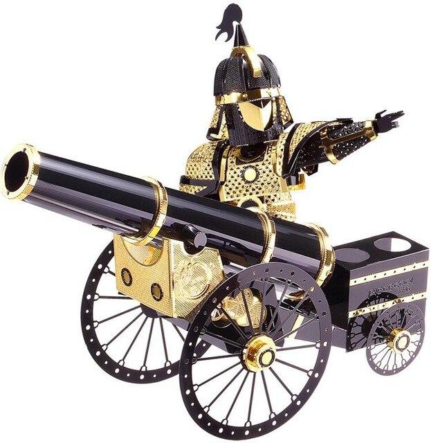 Artilleryman Style P080-KG मॉडल 3D लेजर कटिंग आरा पहेली DIY MU 3D मेटल मॉडल पहेली खिलौने ऑडिट और बच्चों के लिए