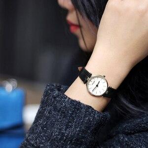 Image 4 - AGELOCER العلامة التجارية السويسرية الفاخرة السيدات ساعة موضة جلدية المعصم كوارتز فتاة ساعة للنساء فستان ساعات ساعة Relogio Feminino