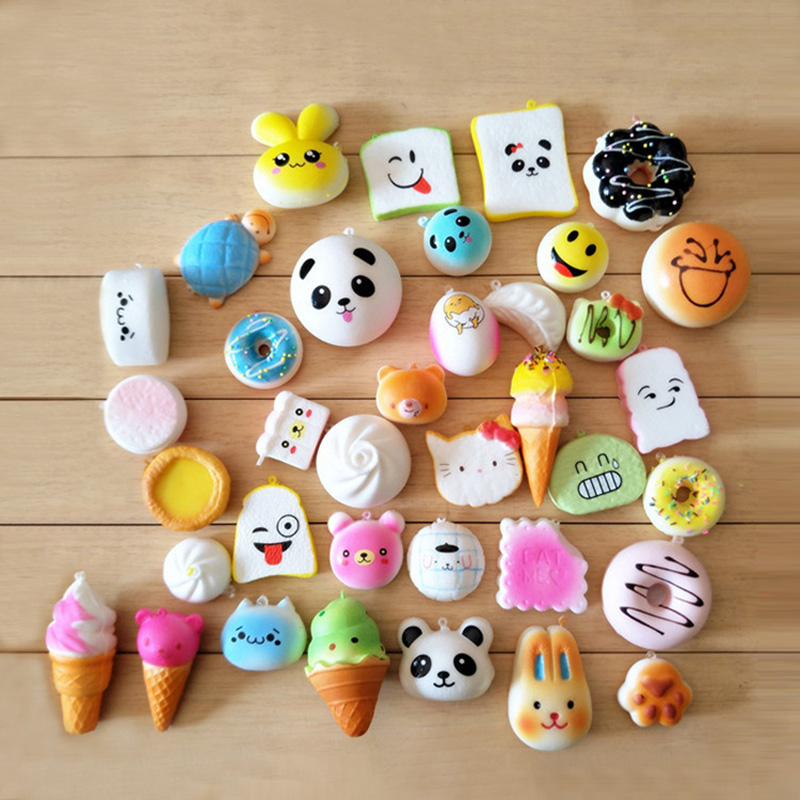 Luggage & Bags Practical 30pcs Panda Dount Paw Cake Squishy Slow Rising Squeeze Decompress Mochi Stretchy Pendant Straps Bread Bag Parts Accessories Moderate Price