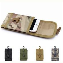 Abay 6 дюймов Molle поясная сумка для телефона нейлоновый держатель для сотового телефона чехол Военная Тактическая охотничья поясная сумка чехол для мобильного телефона