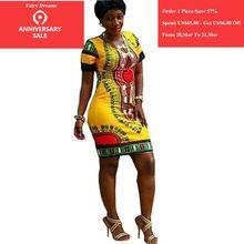 b0583f9ce Vestidos Para As Mulheres 2018 Roupas de Impressão Tradicional Africano  Dashiki Africano Pluse Roupas Estilo Verão