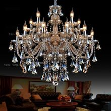 10/12/15 chandeliers adorn Cognac duplex chandelier crystal light Villa large double dining room living