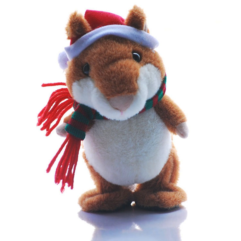Talking Hamster Repeats What You Say Electronic Pet Talking Plush Buddy Mouse for Kids Christmas Gift creative kids talking hamster electronic pet toy 1pc
