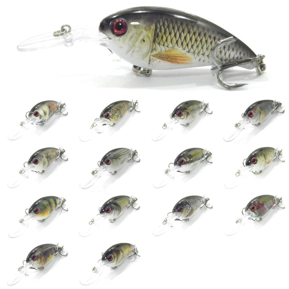 wLure Crankbait RealSkin Painting Wide Wobble Slow Floating Jerkbait 2X Strong Hooks 14.2g 10.2cm Hard Bait Fishing Lure HC55 5pcs lot minnow crankbait hard bait 8 hooks lures 5 5g 8cm wobbler slow floating jerkbait fishing lure set ye 26dbzy