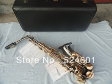 Factory wholesale Very beautiful gift alto saxophone surface black nickel manual flowers