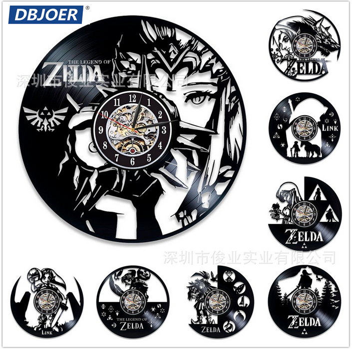 New Retro Vinyl Disc Clock Zelda Wall Clock Lovers 3d Pendant Gift Duvar Saat Main Art Watches Duvar Saati Clock Wall Clocks Aliexpress