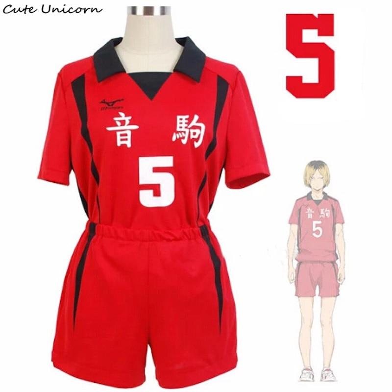 Haikyuu Kuroo Tetsurou High School Uniform Jersey No.1 Cosplay Costume Summer