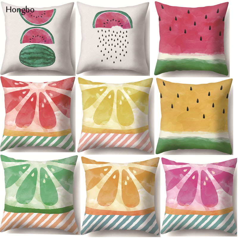Beautiful Hongbo Cute Fruit Watermelon Printed Pillow Case Decorative Office Home Throw Pillow Cover Dakimakura Cojines To Be Renowned Both At Home And Abroad For Exquisite Workmanship Electronic Components & Supplies Skillful Knitting And Elegant Design