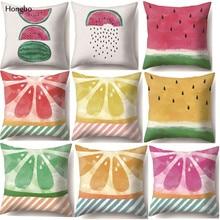 Hongbo Cute Fruit Watermelon Printed Pillow Case Decorative Office Home Throw Cover Dakimakura Cojines