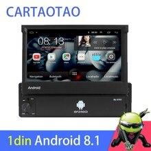 1din אנדרואיד 8.1 ללכת Quad Core DVD לרכב GPS ניווט נגן 7 Universa רכב רדיו WiFi Bluetooth MP5 מולטימדיה נגן