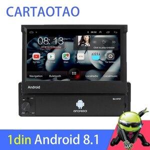 Image 1 - 1din Android 8.1 GO Quad Core voiture DVD GPS lecteur de Navigation 7 Universa autoradio WiFi Bluetooth MP5 lecteur multimédia