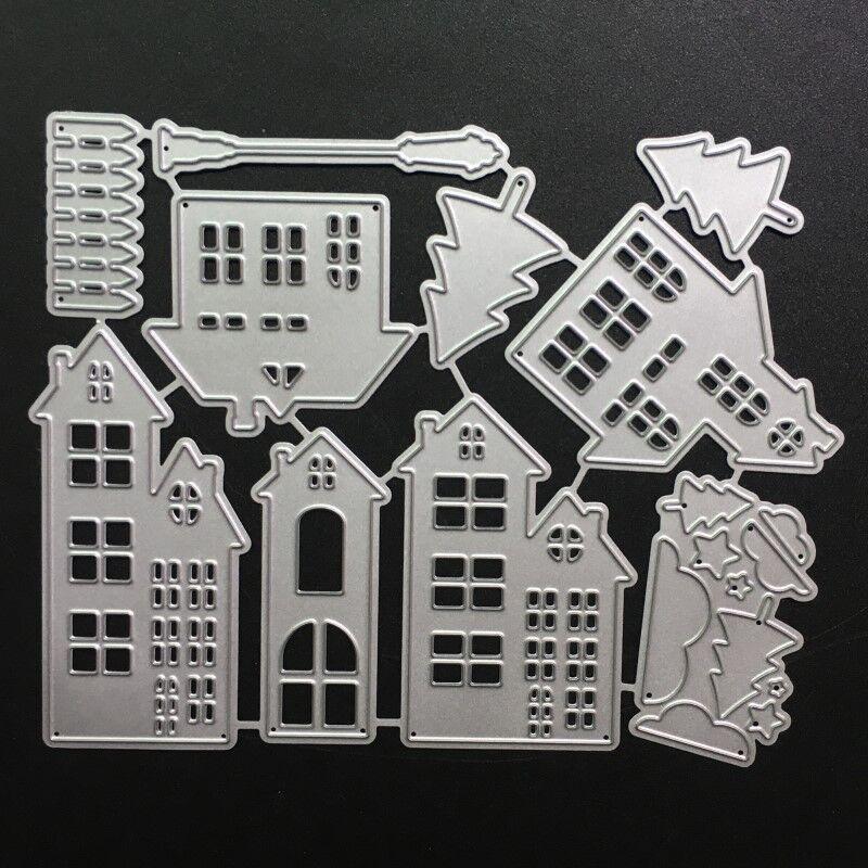 SCD779 Stencils Corte Morre Do Edifício Do Metal Para Scrapbooking DIY Álbum Decoração Cartões Pasta Embossing Morrer Cortes Novo Modelo