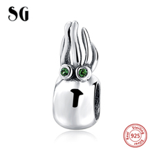 Fit Authentic pandora Bracelets 925 silver lovely animal octopus with CZ stone diy fashion Jewelry making women Gifts