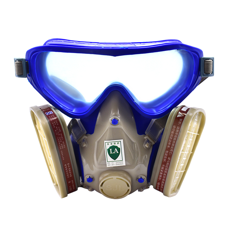 FGHGF Full Facepiece Respirator Mask Filter Gas Mask With Goggles For Pesticide Pintura Carbon Filter Mask Paint Spray Gas Boxes 3m 6800 6006 full facepiece mask reusable respirator filter protection masks anti multi acid gas