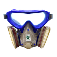 FGHGF Full Facepiece Respirator Mask Filter Gas Mask With Goggles For Pesticide Pintura Carbon Filter Mask Paint Spray Gas Boxes