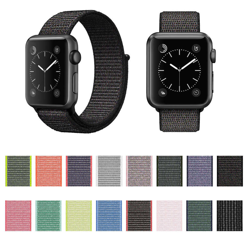 494a052064a ... New Woven Nylon Sport Loop band for Apple Watch Series 4 44mm 40mm strap  watchband for ...