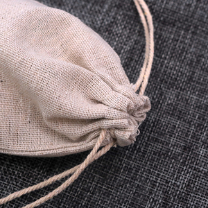 Image 3 - 100pcs/lot Natural Color Cotton Bags Small Linen Drawstring Gift Bag Muslin Pouch Bracelet Jewelry Packaging Bags Pouches